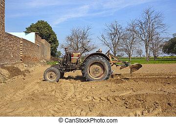 agricultural punjab - punjabi agricultural landscape with a...