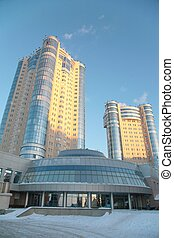 new buildings in Samara in winter