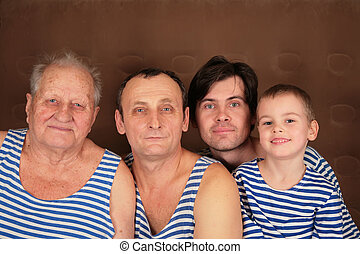 four generations in frocks