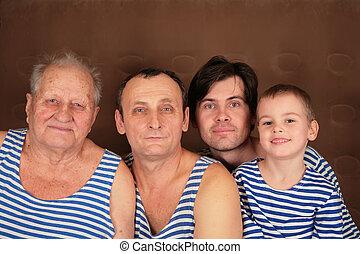 cuatro, generaciones, frocks
