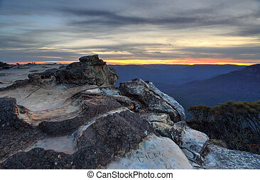Sunset Wentworth Falls - Sunset views from Wentworth Falls,...