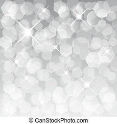 Glittery lights silver abstract