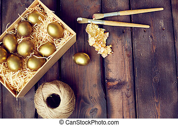 Gold leaf for Easter creativity