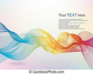 Abstract wave rainbow colored backg
