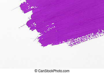 stroke purple paint brush color water watercolor isolated on...