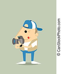 Cartoon paparazzi