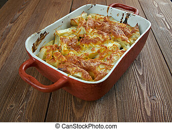Janssons frestelse - traditional Swedish casserole made of...