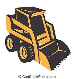 skid steer hi-angle - skid steer illustration