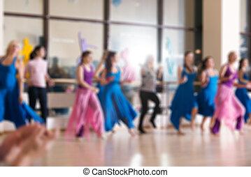 Dance class for women blur background - Dance class for...