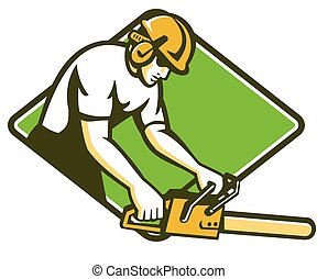 tree-surgeon-lumberjack-chainsaw-diamond - vector...