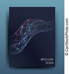 Vector business brochure flyer template or corporate banner...