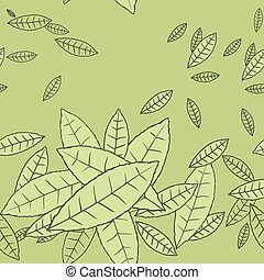 Pattern of fly leaves. Vector seamless background