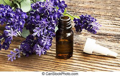 Lavender Essence Bottle - Lavender Essential Oil Bottle on...