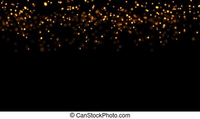 golden particles sparkling falling down, holiday christmas...