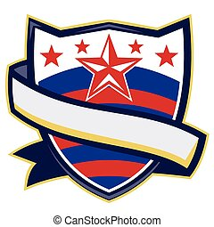 rodeo-shield-stars-stripes - Illustration of a shield with...