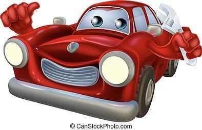 Cartoon character car mechanic - Cartoon car auto repair...