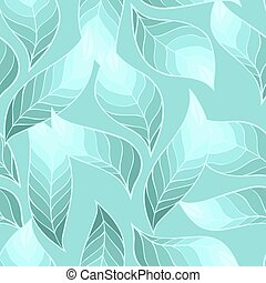 Vector seamless stylish pattern of leaves.