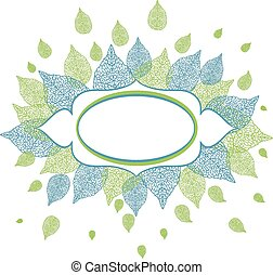 Vector illustration of leaves with plase for text