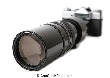 Camera with large lens