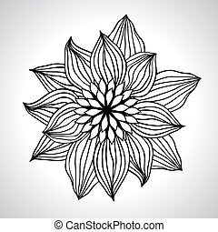 Abstract floral background. Vector flower element for design