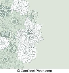 Abstract floral background Vector flower element for design...