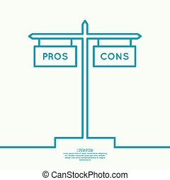 Pros and Cons list. Selection of the optimal solutions,...