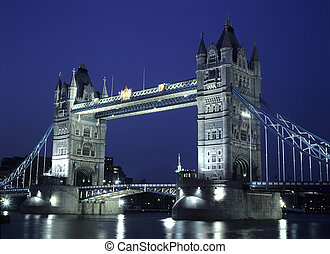 Tower Bridge on the River Thames in Tower Hamlets, London ,...