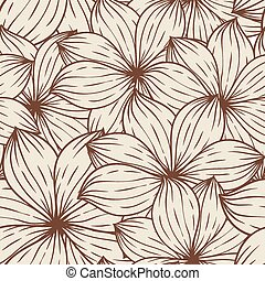 Seamless texture of abstract flowers. Vector background