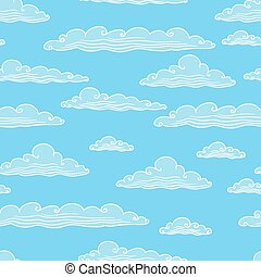 Seamless background with clouds - vector illustration