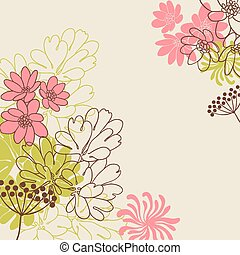 Abstract flowers background with place for your text.