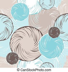 Abstract seamless background made from set of rings.
