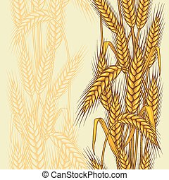 Seamless pattern abstract with wheat.