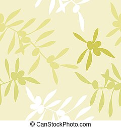 Seamless realistic olive oil background. Illustration vector