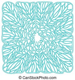 Circle ornament ornamental round lace. Vector illustration.
