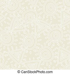 Seamless texture with abstract sun. Vector illustration.
