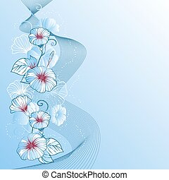 Stylish abstract floral background Design of vector flowers...