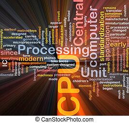 kasten, Wort,  CPU, Wolke, Paket
