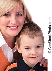 Middleaged woman with boy 2