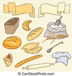 Vector set on the Bread theme.