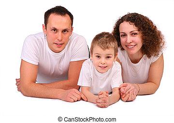 Family lying