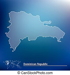 Map of Dominican Republic - vector illustration