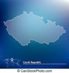 Map of Czech Republic - vector illustration