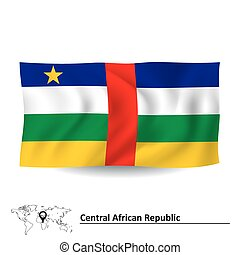 Flag of Central African Republic - vector illustration