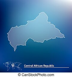 Map of Central African Republic - vector illustration