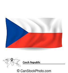 Flag of Czech Republic - vector illustration