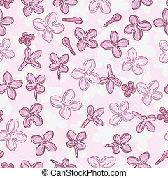 Vector background for design with flowers of lilac