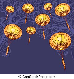 Fairy-lights Big traditional chinese lanterns - Fairy-lights...