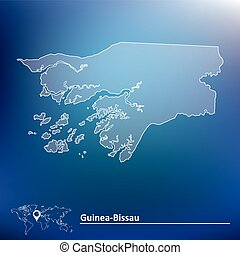 Map of Guinea-Bissau - vector illustration