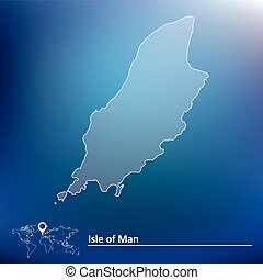 Map of Isle of Man - vector illustration