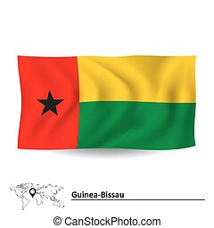 Flag of Guinea-Bissau - vector illustration